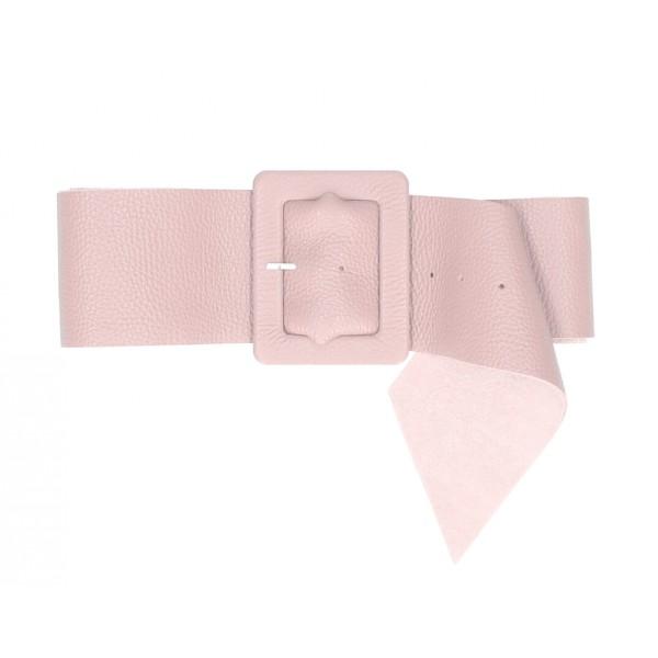 Dámsky kožený opasok 339 Made in Italy pudrovo ružový Pudrová ružová