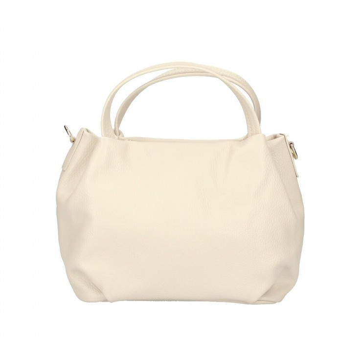 Genuine Leather Handbag 784 beige