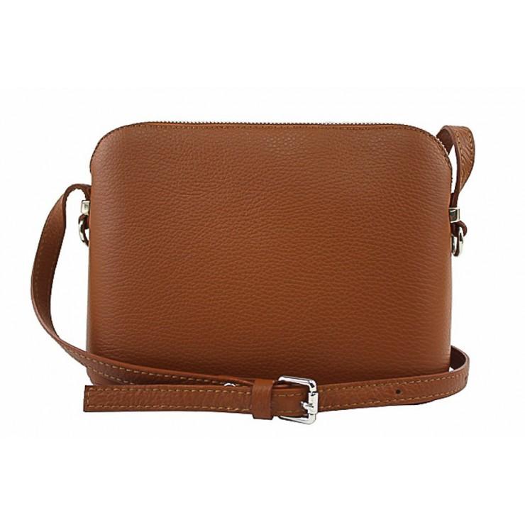 Kožená kabelka na rameno 1310 koňaková