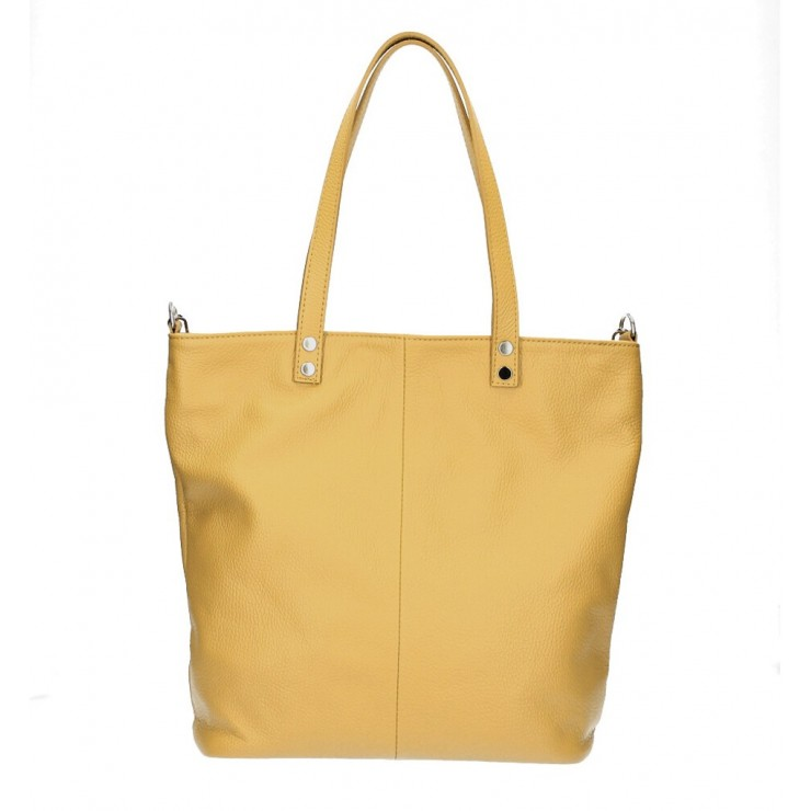 Genuine Leather Maxi Bag 165 mustard MADE IN ITALY