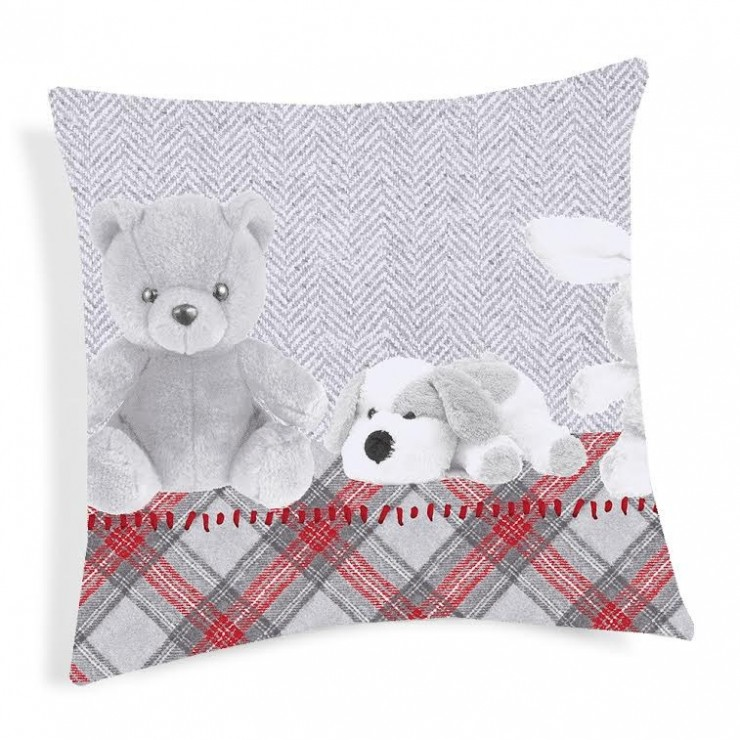 Pillowcase Plushies red 40x40 cm Made in Italy
