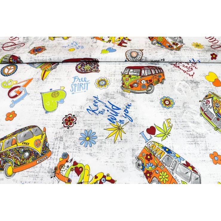 Bavlnená látka Peace, š. 145 cm
