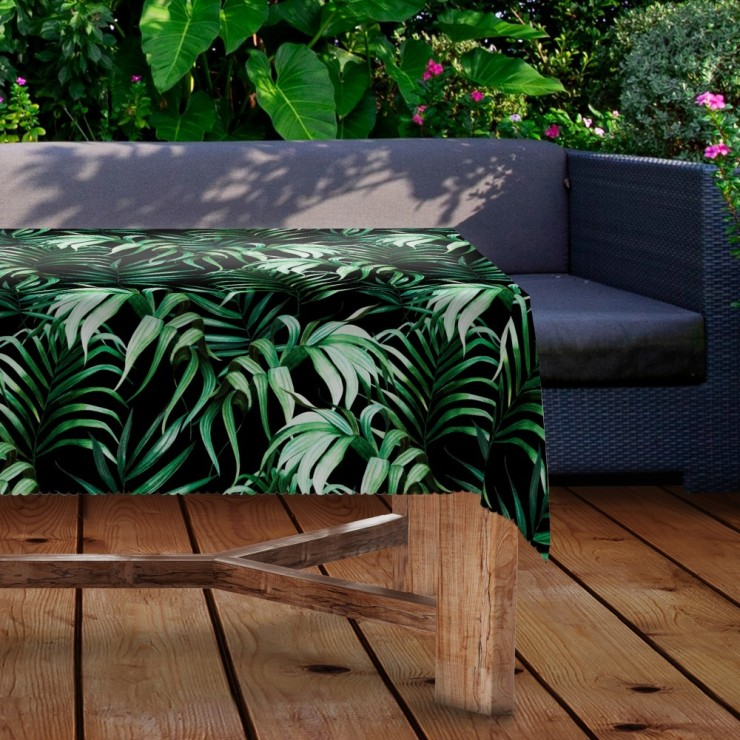 Waterproof garden tablecloth MIGD434-279 exotic leaves