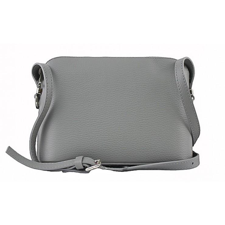 Kožená kabelka na rameno 1310 šedá