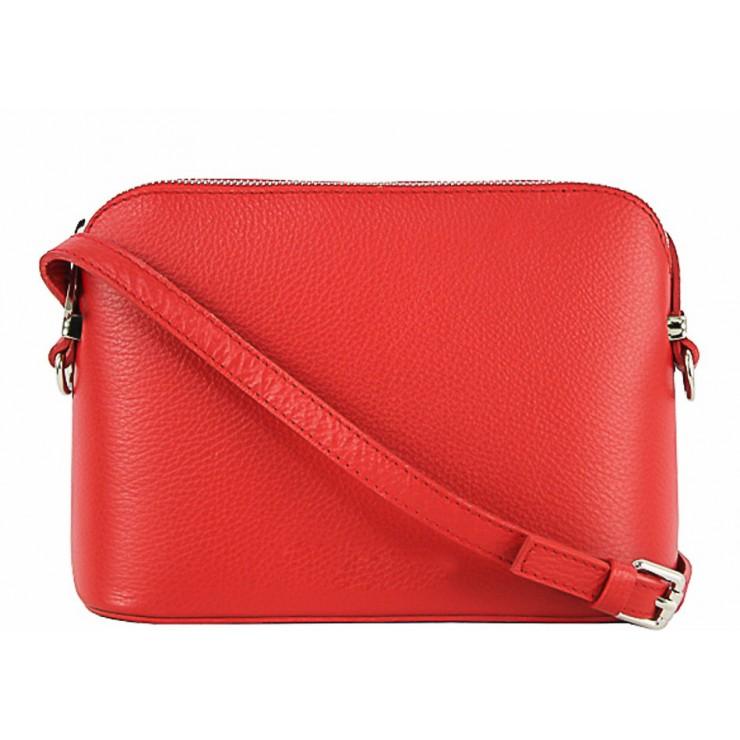 Kožená kabelka na rameno 1310 červená