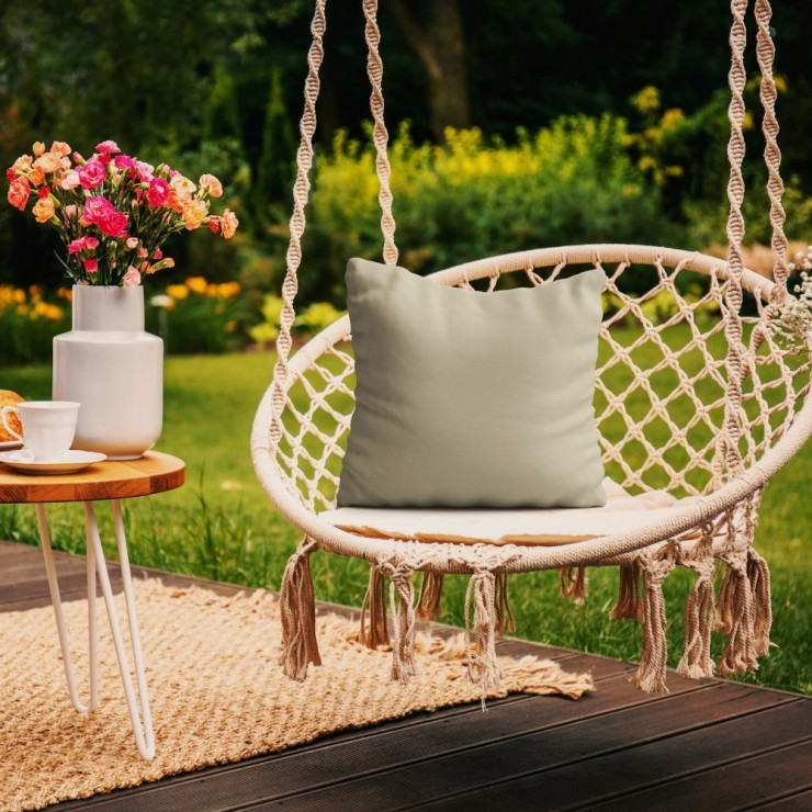 Waterproof garden cushion 50x50 cm beige