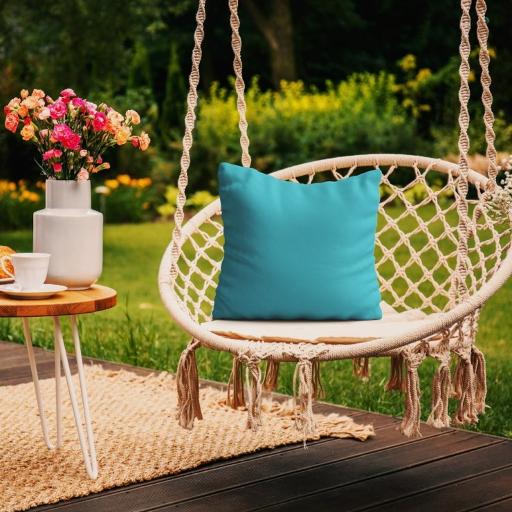 Waterproof garden cushion 50x50 cm turquoise