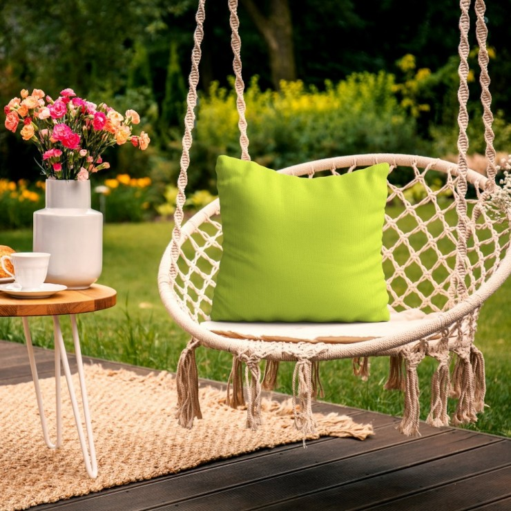 Waterproof garden cushion 50x50 cm lime