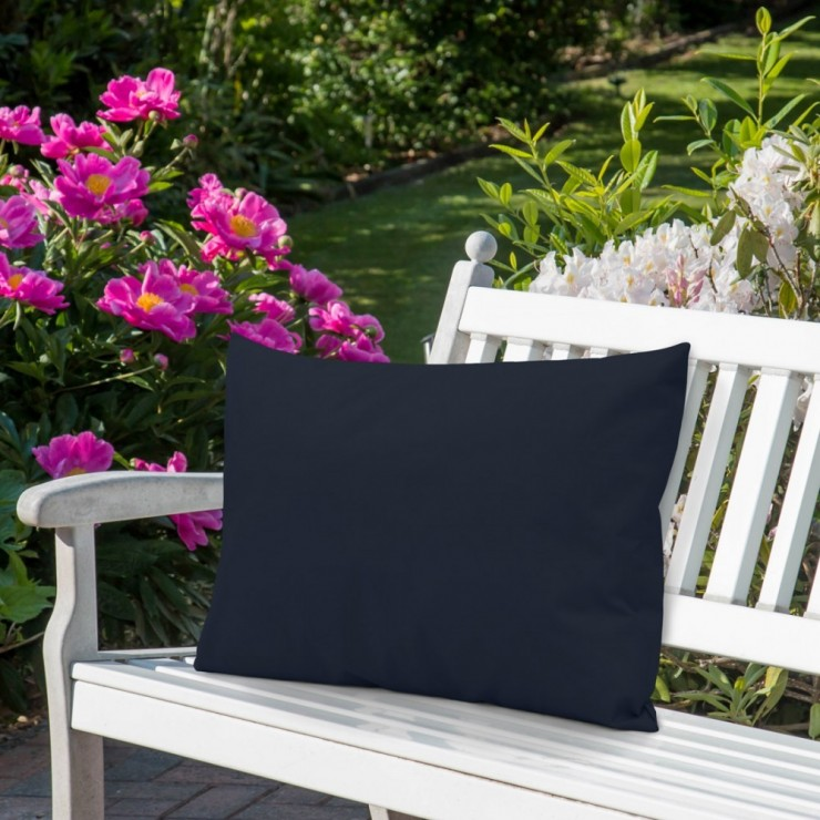 Waterproof garden cushion 50x70 cm dark blue