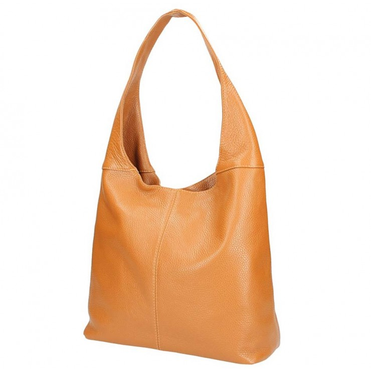 Leather shoulder bag 590 cognac