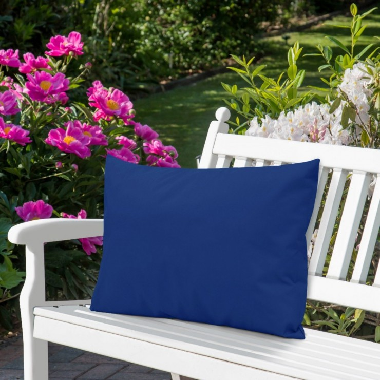 Waterproof garden cushion 50x70 cm azure blue