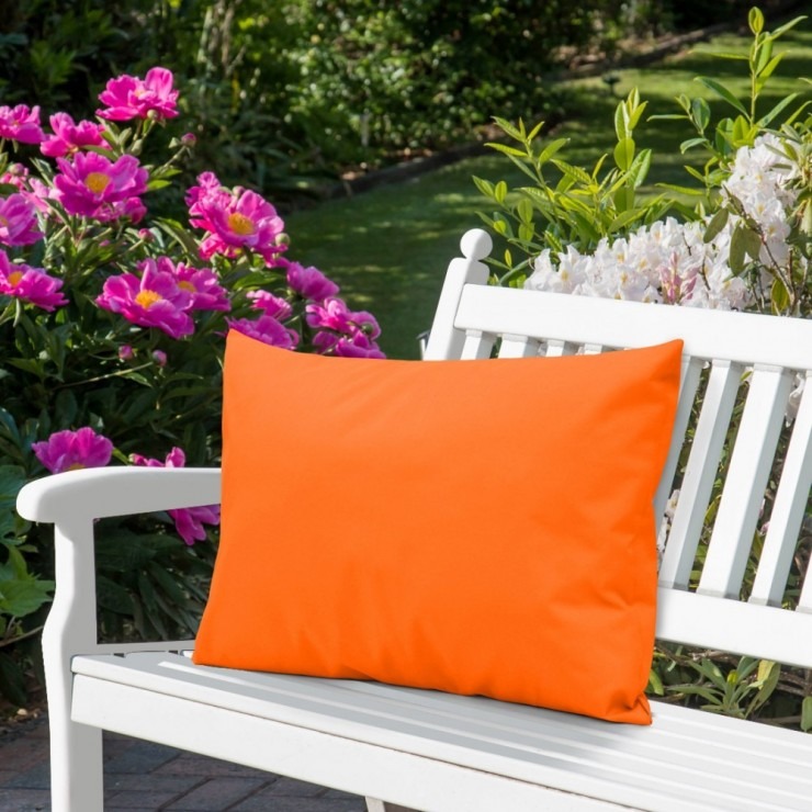 Waterproof garden cushion 50x70 cm orange