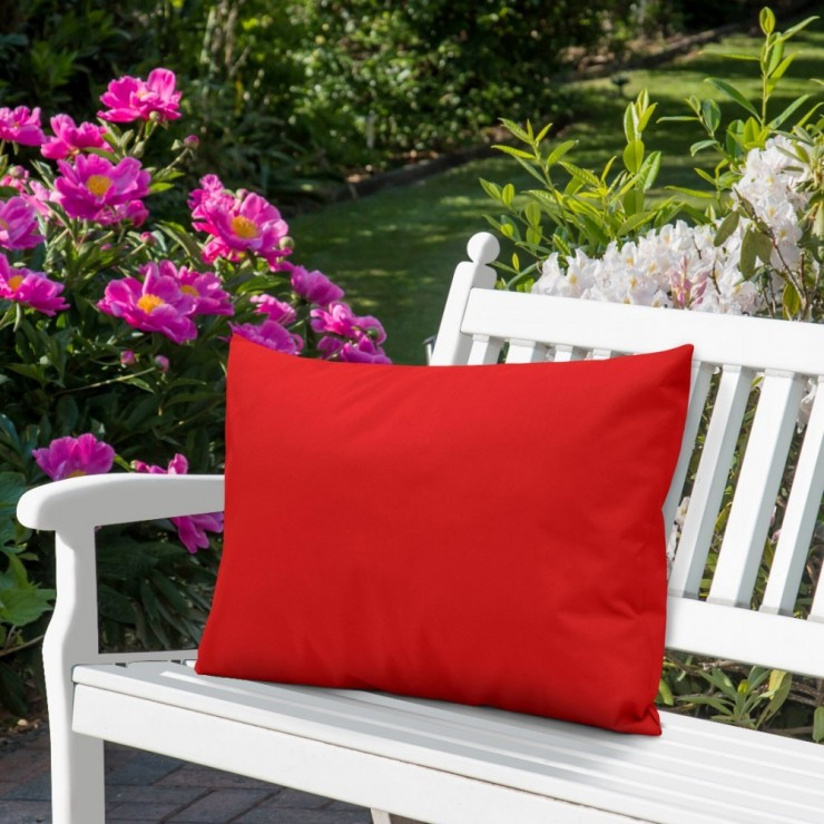 Waterproof garden cushion 50x70 cm red