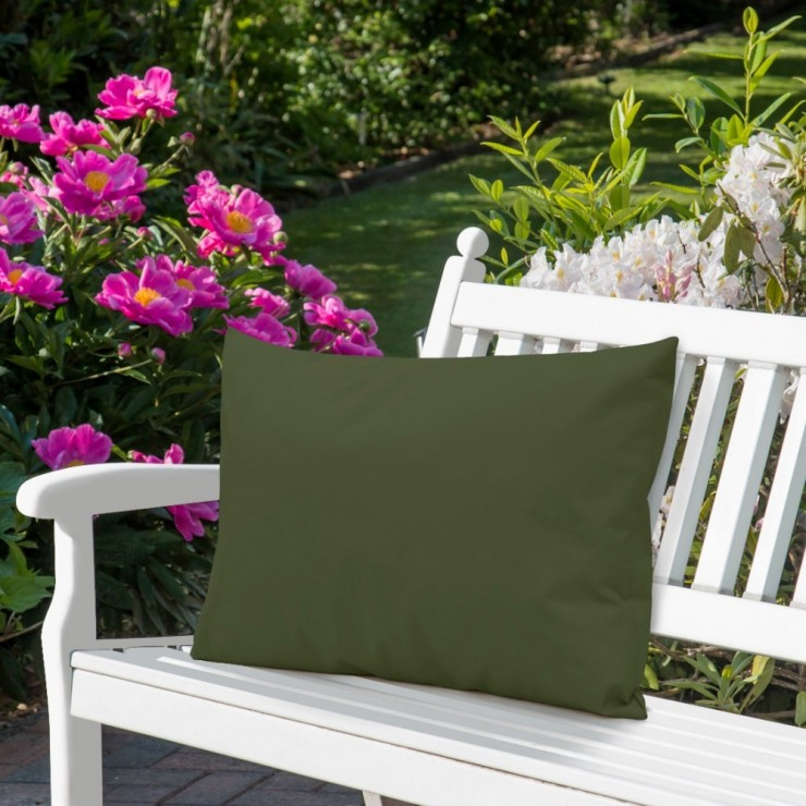Waterproof garden cushion 50x70 cm khaki
