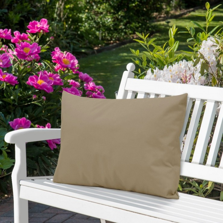Waterproof garden cushion 50x70 cm dark beige