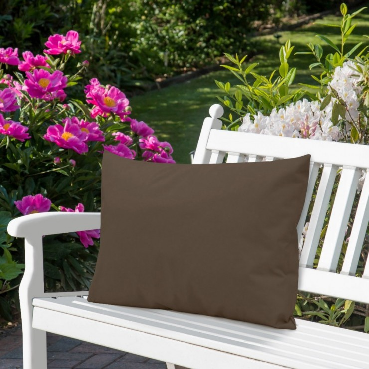 Waterproof garden cushion 50x70 cm brown