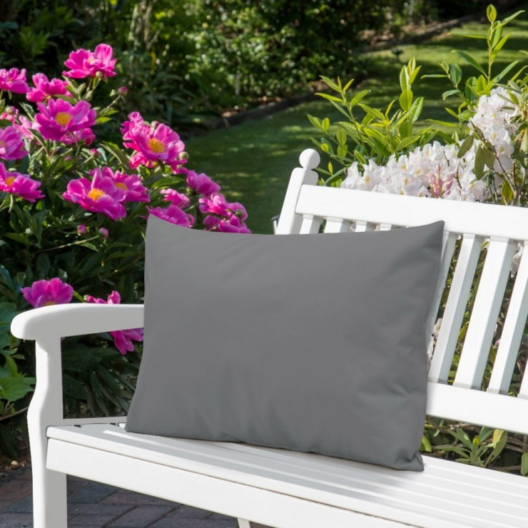 Waterproof garden cushion 50x70 cm dark gray