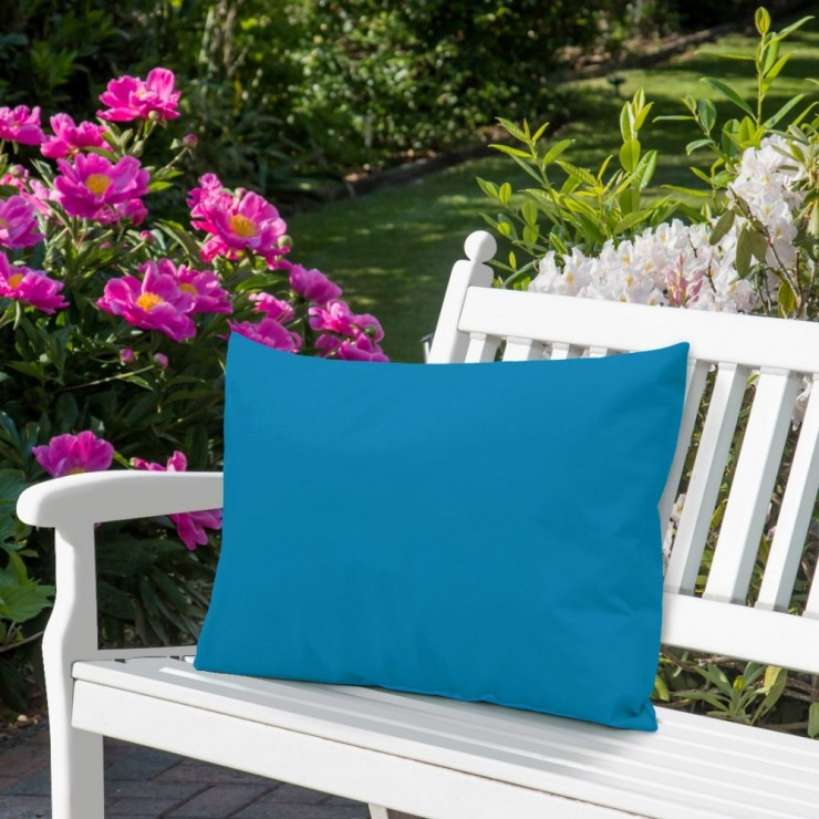 Waterproof garden cushion 50x70 cm dark turquoise