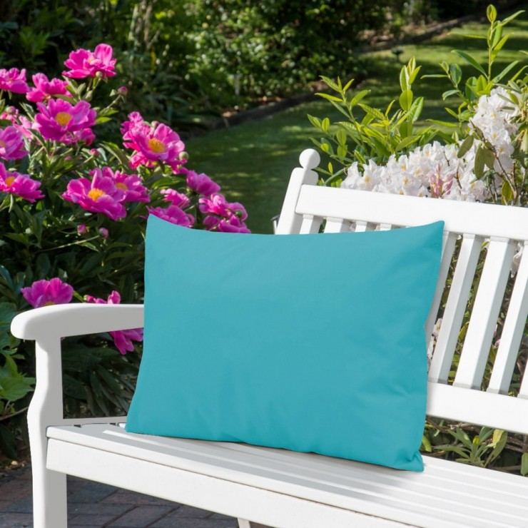 Waterproof garden cushion 50x70 cm turquoise