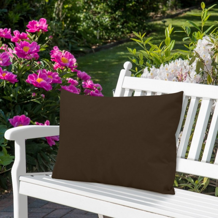 Waterproof garden cushion 50x70 cm dark brown