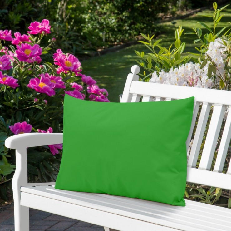Waterproof garden cushion 50x70 cm green