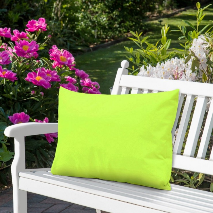 Waterproof garden cushion 50x70 cm lime