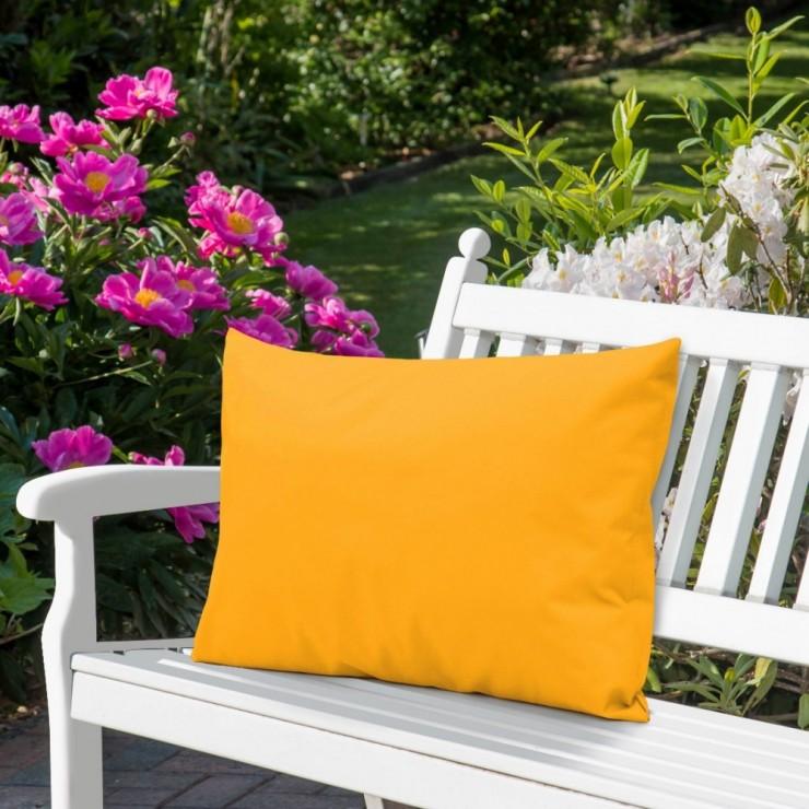 Waterproof garden cushion 50x70 cm yellow