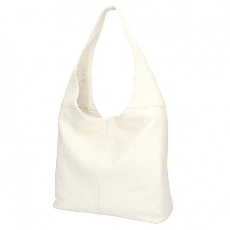 Béžová kožená kabelka na rameno 590
