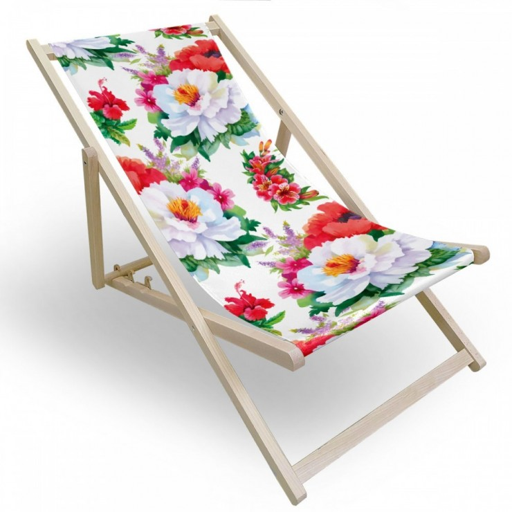 Garden chair white flowers