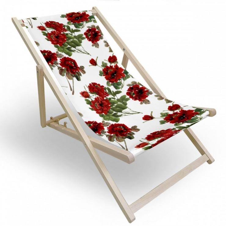 Garden chair red flowers