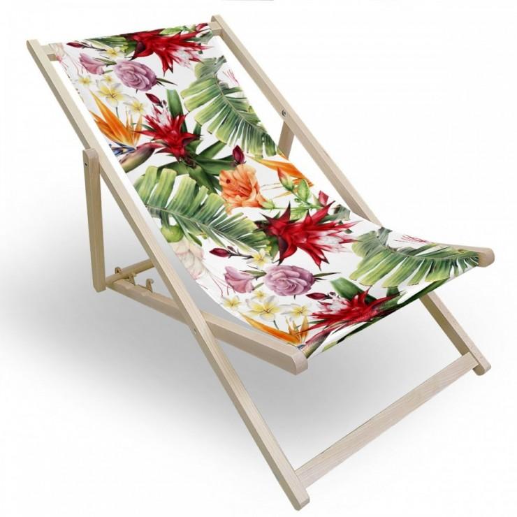 Garden chair exotic flower