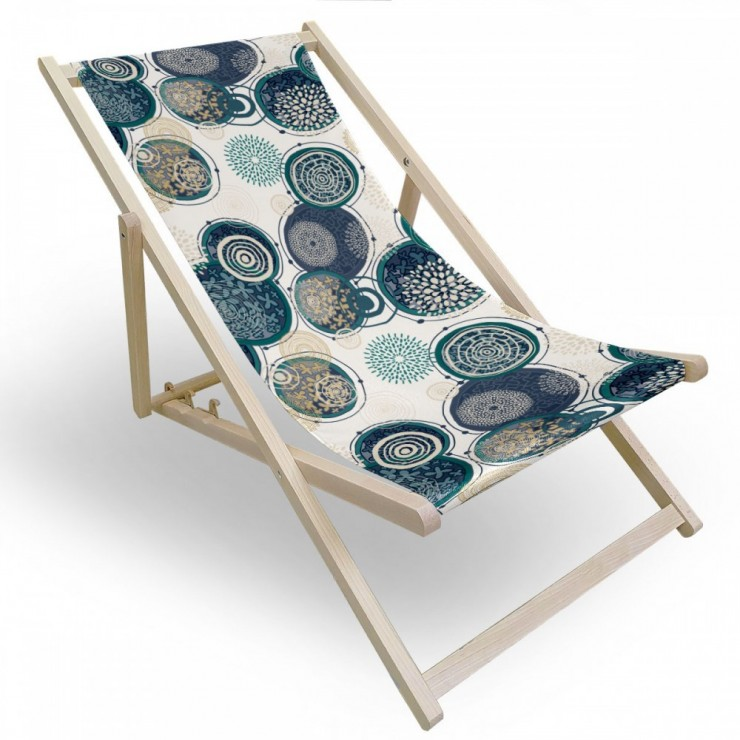 Garden chair colored circles