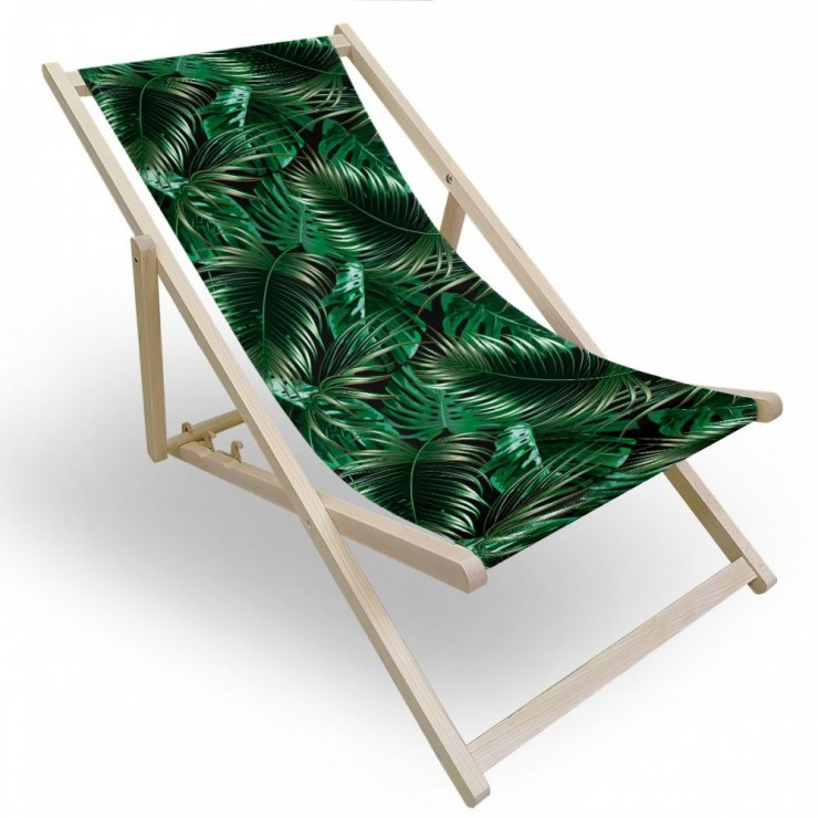 Záhradné lehátko palmové lístie