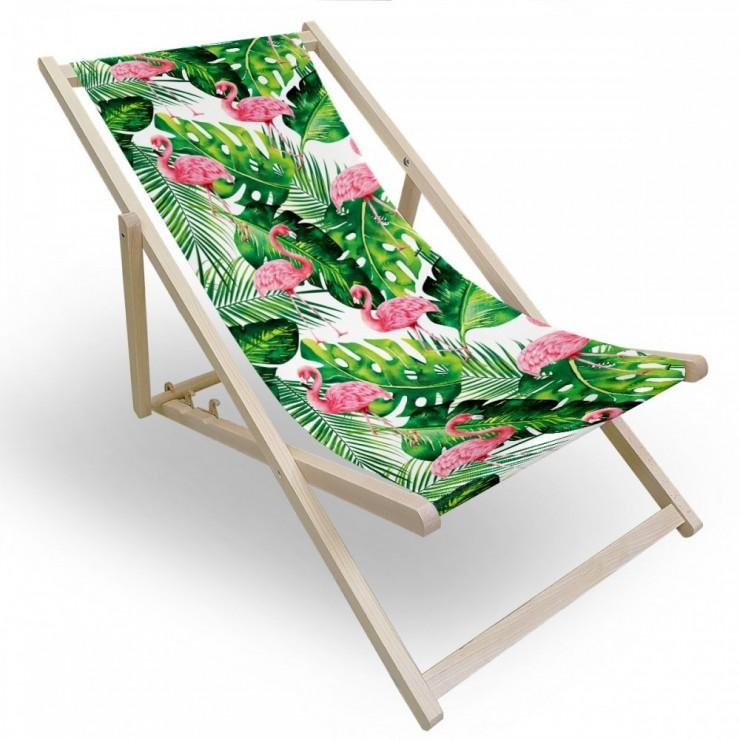 Garden chair flamingos