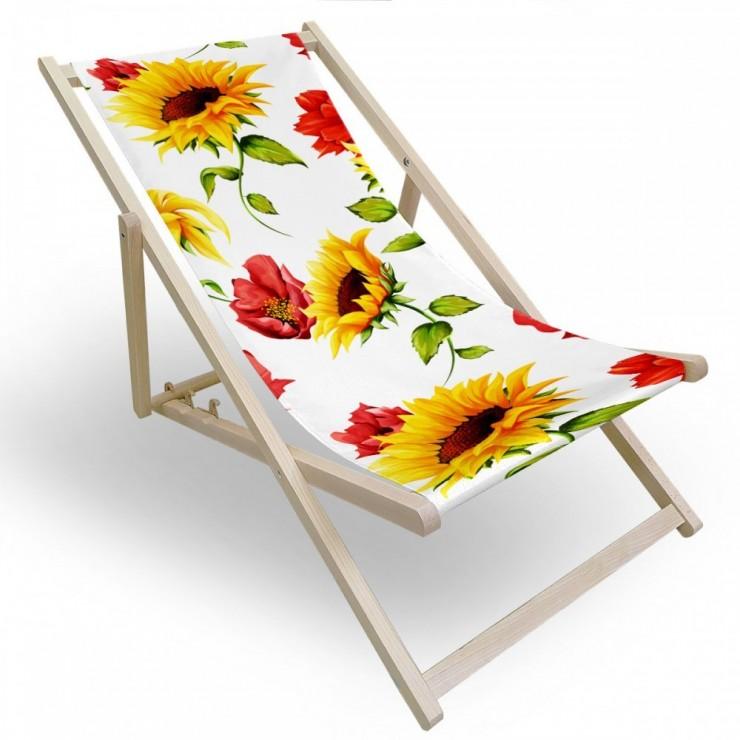Záhradné lehátko slnečnicový ráj