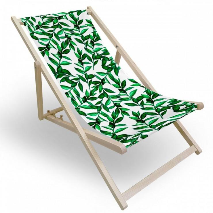 Záhradné lehátko zelené vetvičky