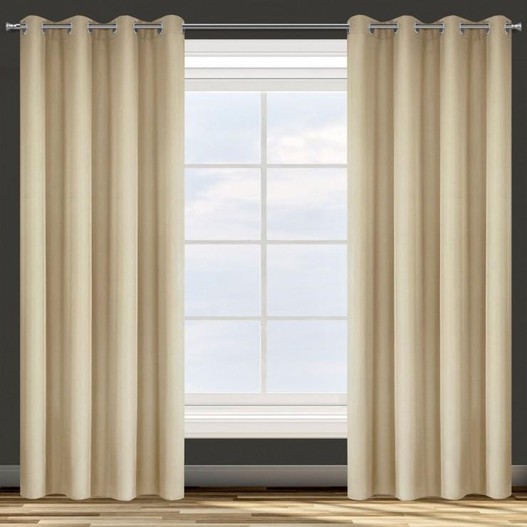 Curtain on rings beige