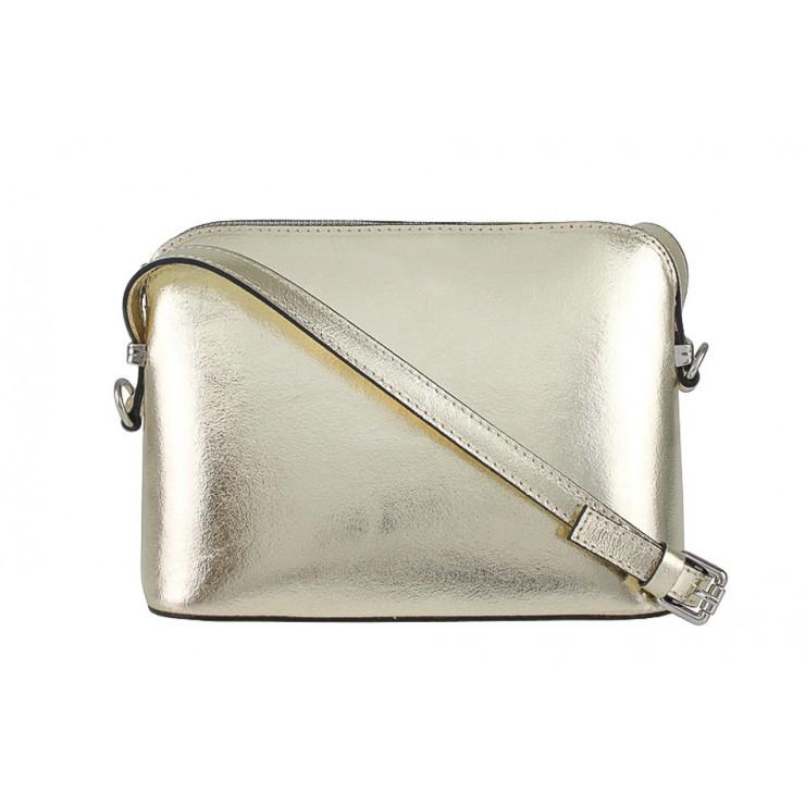 Kožená kabelka na rameno 1310 zlatá