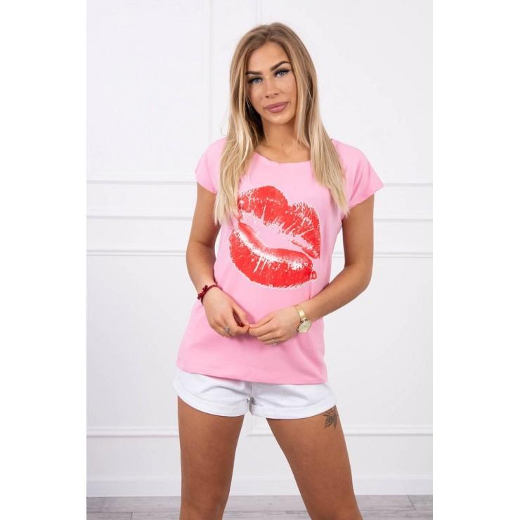 Women T-shirt MI8985 light pink