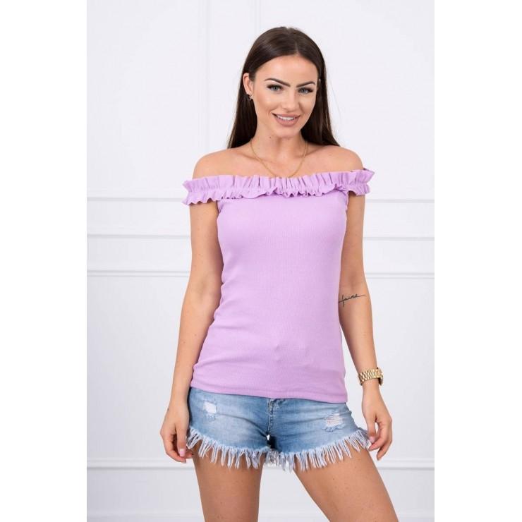 Tričko so zdobenými ramienkami MI9096 fialové