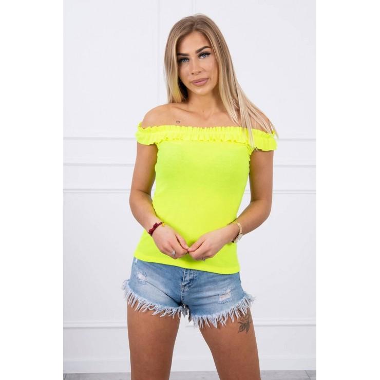 T-shirt with frills MI9096 yellow neon