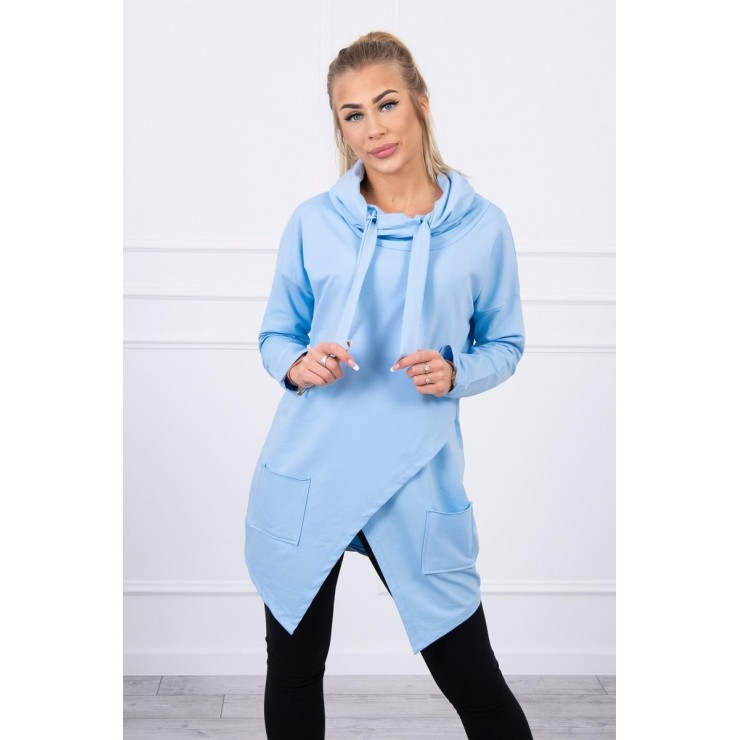 Tunic with envelope front oversize MI0017 blue
