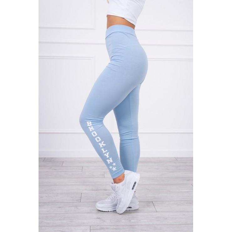 Woman leggings Brooklyn MI8882 light blue