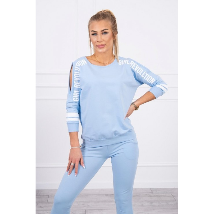 Women's set MI8849 Girl Revolution light blue