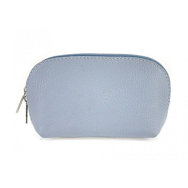 Leather Pouch 593 light blue