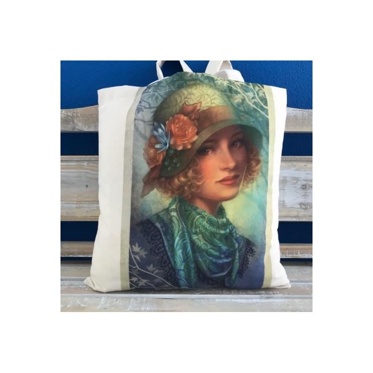 Linen handbag MIT27
