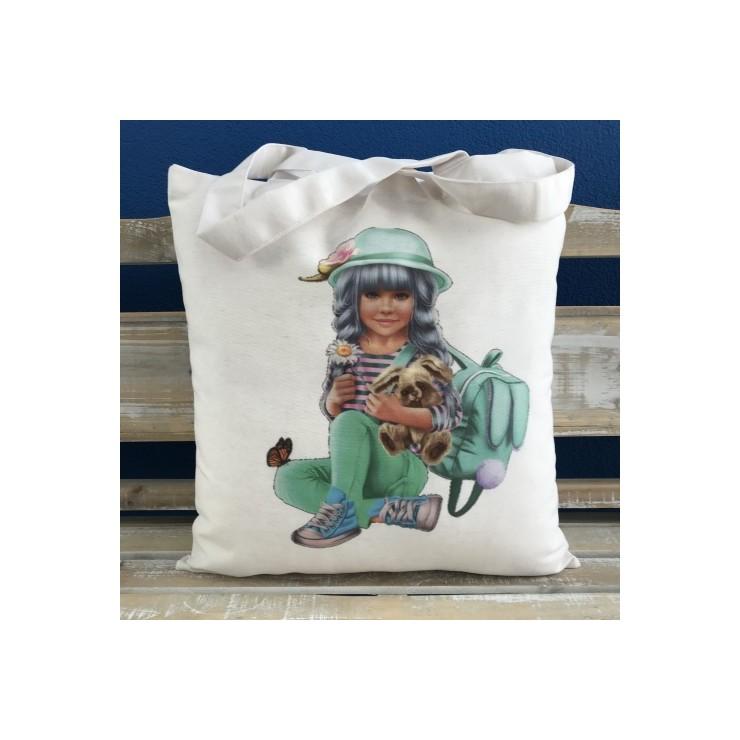 Linen handbag MIT36