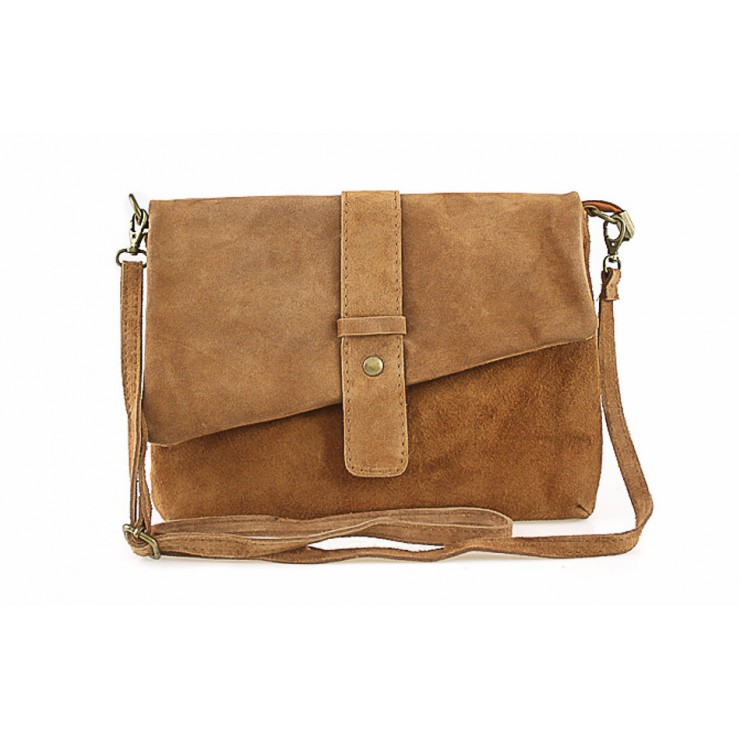 Genuine Leather Handbag 442 cognac