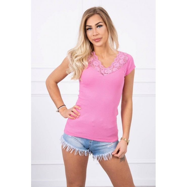 Women T-shirt MI8987 light pink