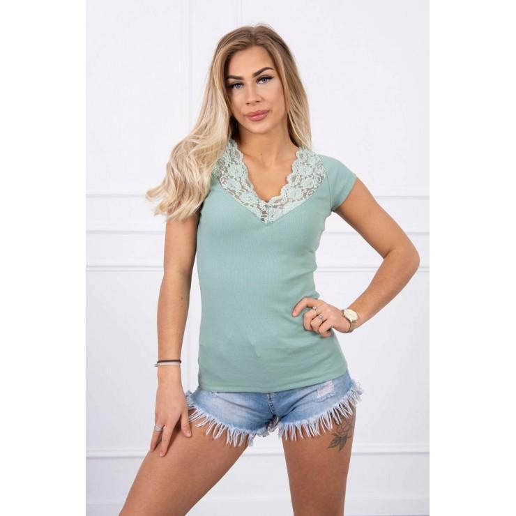 Women T-shirt MI8987 dark mint